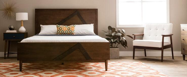 Mid-Century Modern Bedroom Platform Bed