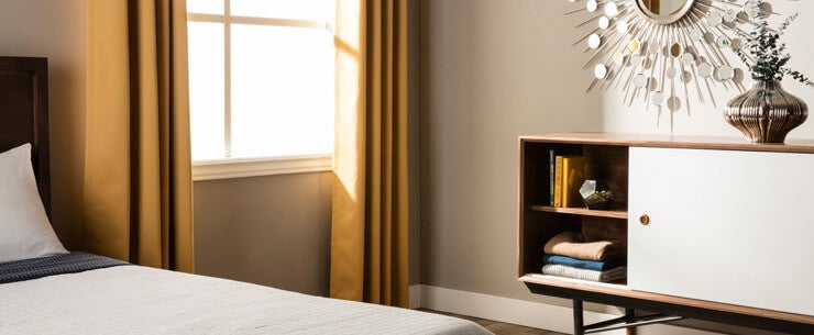 Mid-Century Modern Bedroom Natural Light