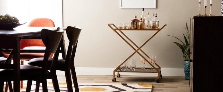 Mid-Century Modern Dining Room Bar Cart