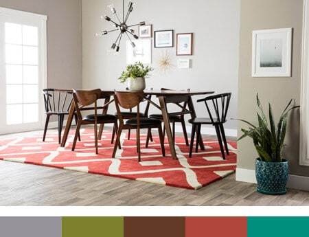 Mid-Century Modern Dining Room Color Palette