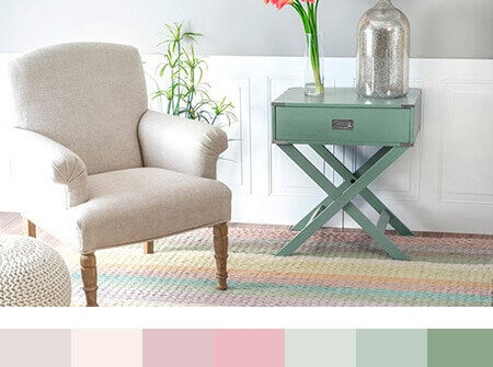 Shabby Chic Living Room Color Palette