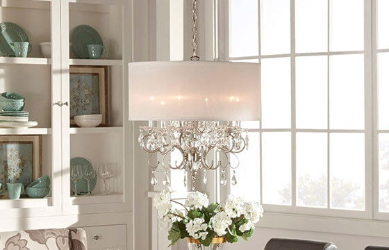 Shabby Chic Dining Room Crystal Chandelier