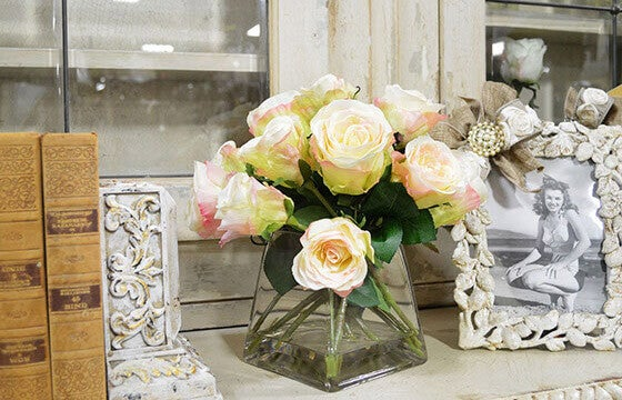 Shabby Chic Dining Room Flower Arrangements