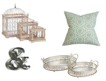 A Collage of Shabby Chic Decor Items