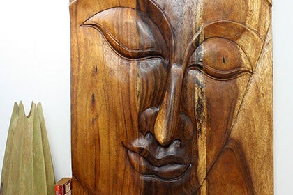 Handcrafted wood sculpture