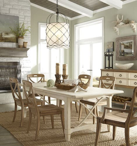 Get inspired by this fresh breezy coastal home decor for Coastal dining room ideas