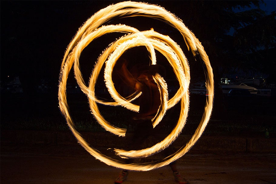 Image of someone dancing with fire