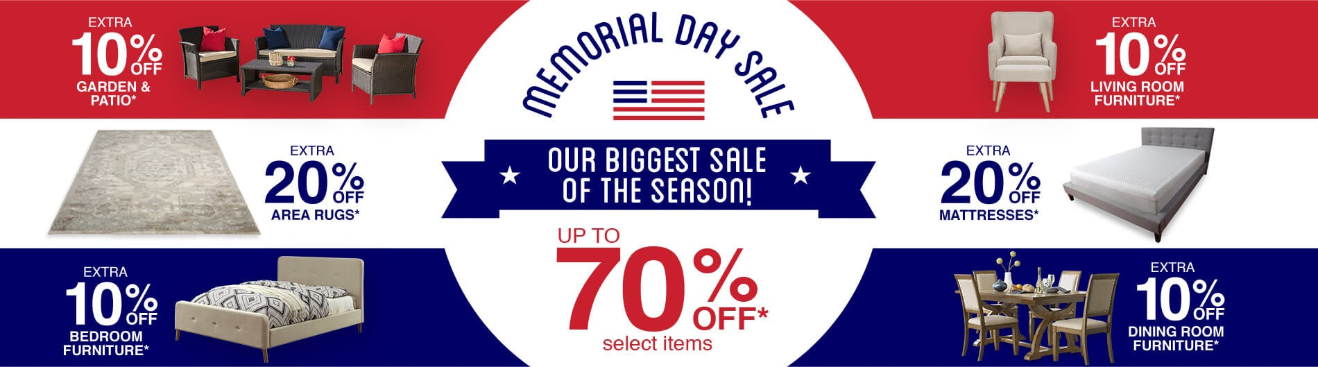 Memorial Day - Up To 70% Off*