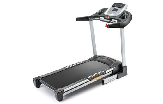 Silver treadmill machine
