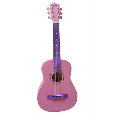 30 inch pink student guitar