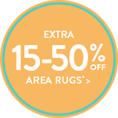Extra 15-50% Off Area Rugs*