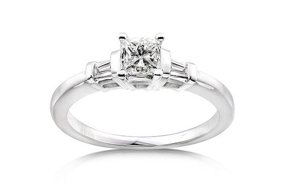 Annello 14k Gold 1/2ct TDW Princess Diamond Engagement Ring