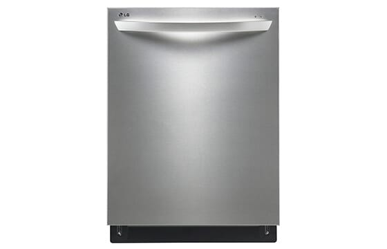 LG 24-inch fully integrated dishwasher in stainless steel