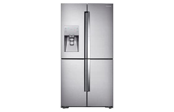 Samsung counter depth 4 door refrigerator in stainless steel