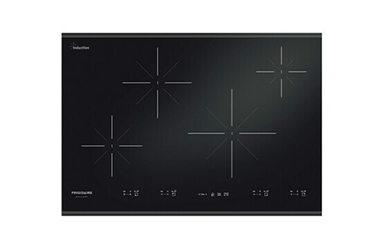 Black ceramic 30-inch electric induction cooktop