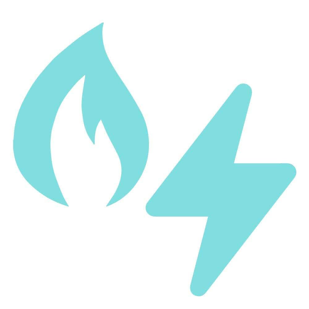 Illustration of fire and electricity