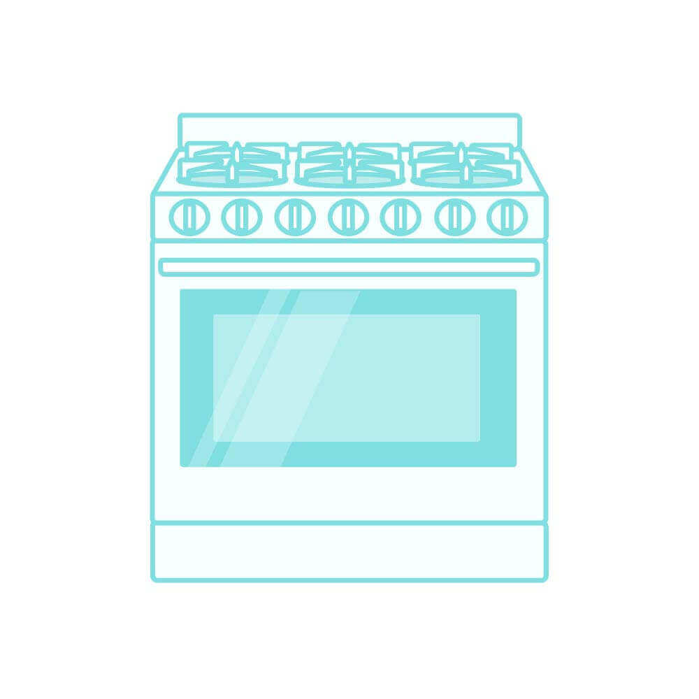 Illustration of a kitchen range