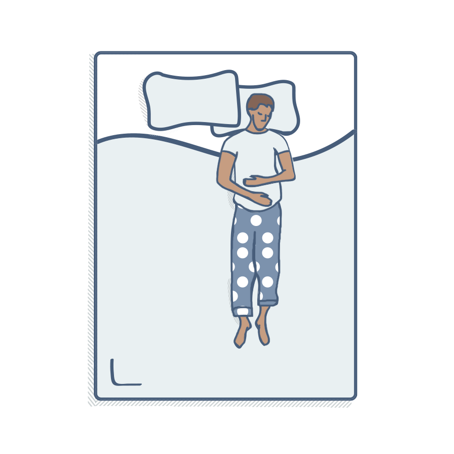 Illustration of a person sleeping on their back