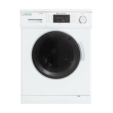 Washer and dryer combo in white