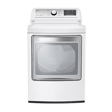 LG white and stainless steel electric dryer