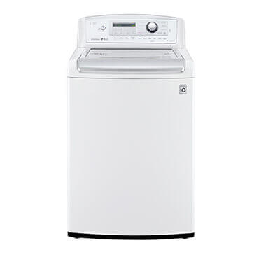 LG high efficiency top-load washer in white