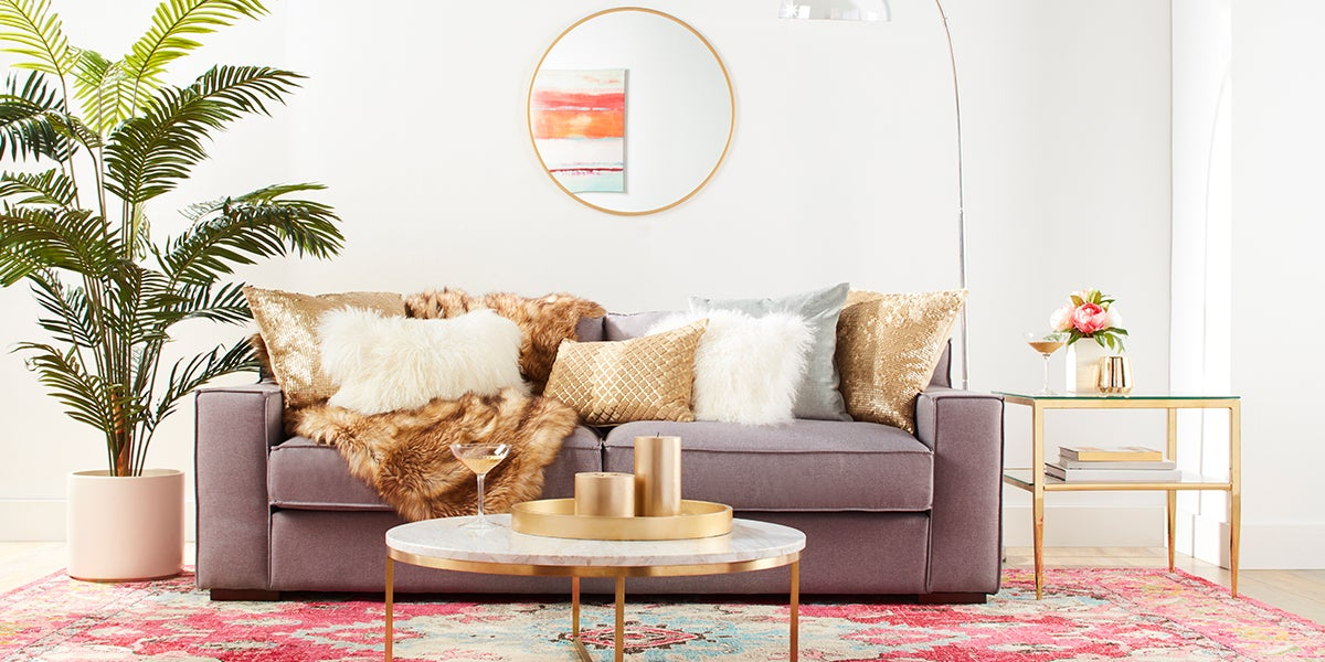 Hollywood Glam Living Room Makeover. 4 Brilliant Looks to Makeover Your Living Room   Overstock com