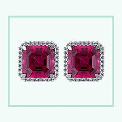 Cushion cut pink tourmaline solitaire diamond necklace