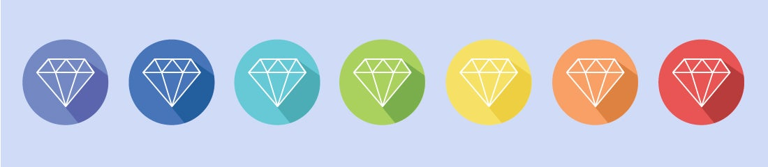 Illustration of a gemstone color