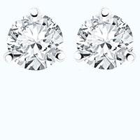 Pair of round diamond earring