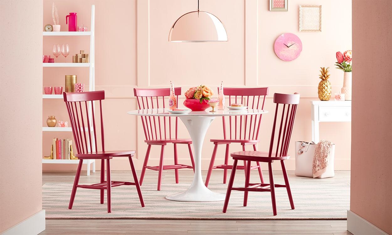 Pink dining room set
