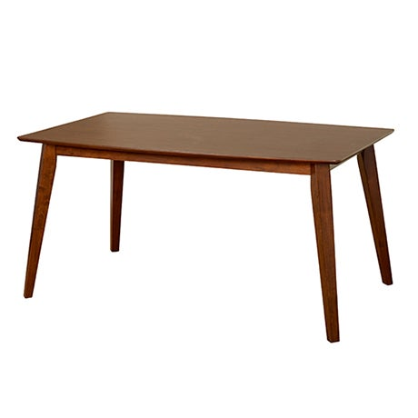 Dark espresso Mid-Century Modern dining table