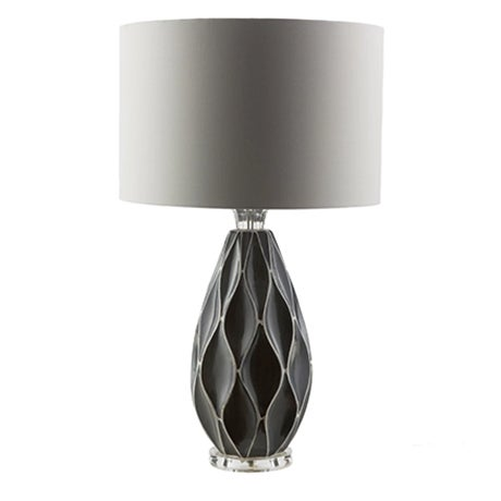 A retro black table lamp