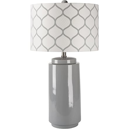 A grey modern table lamp