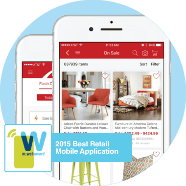 2015 Best Retail Mobile Application from m.webaward.