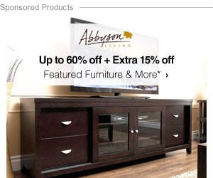 Up to 60% off  Extra 15% off Featured Furntire by Abbyson Living*