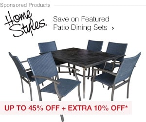 Up to 45% off + Extra 10% off Featured Dining Sets*