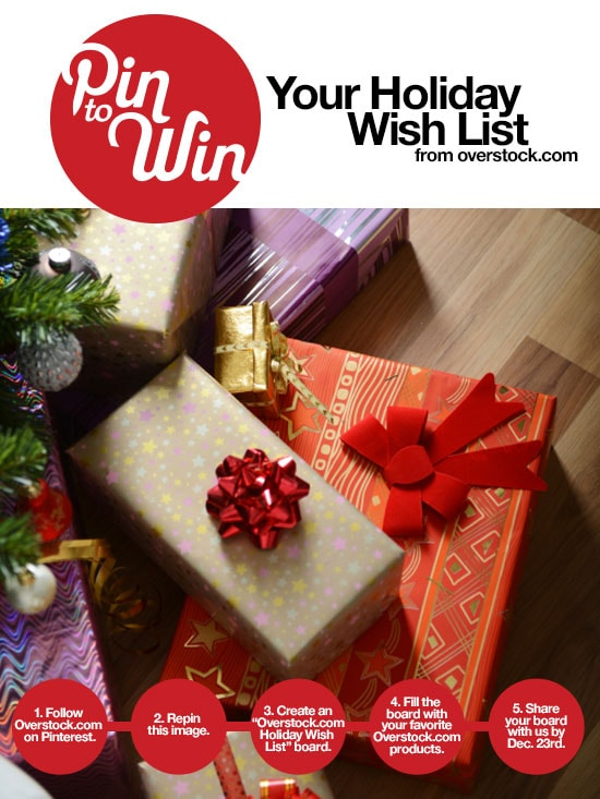 Pin to Win your dream room from Overstock.com