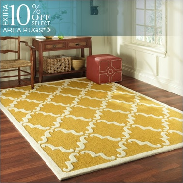10% off Select Area Rugs*