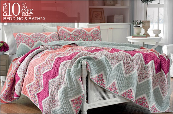 10% off Select Bedding & Bath*