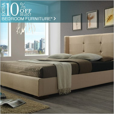 10% off Select Bedroom Furniture*