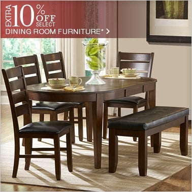 10% off Select Dining Room Furniture*