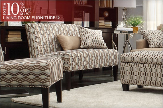 Extra 10% off Select Living Room Furniture*