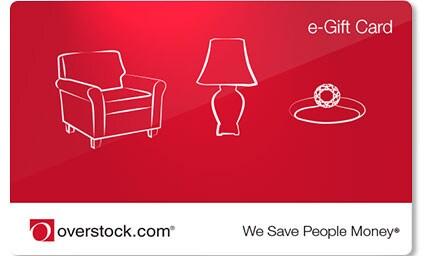 Overstock.com e-giftcard