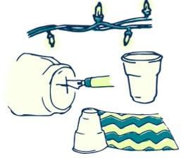Platic Cup Garland