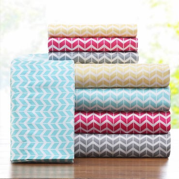 Stack of sheets that have a chevron pattern