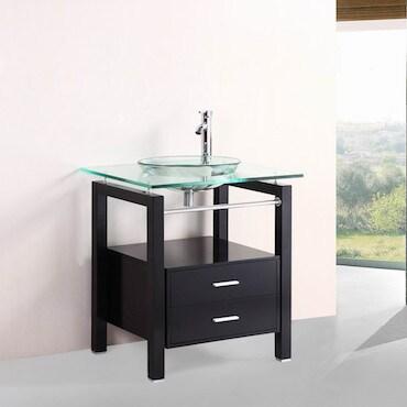 Glass Top Bathroom Vanities