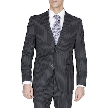 Black Pin Striped Suit