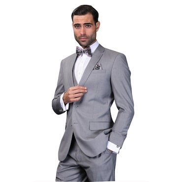 Wool Suit with Bowtie