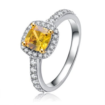 Yellow Cubic Zirconia Ring