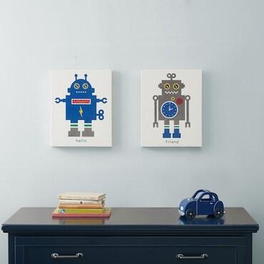 Children's Robot Wall Art